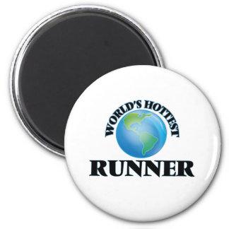World's Hottest Runner Refrigerator Magnets