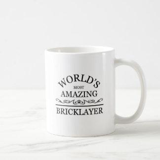 World's most amazing Bricklayer Basic White Mug