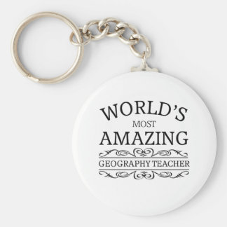 World's most amazing geography teacher key ring
