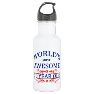 World's Most Awesome 70 Year Old 532 Ml Water Bottle