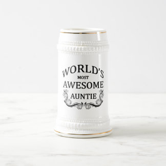 World's Most Awesome Auntie Beer Stein