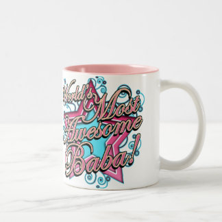 Worlds Most Awesome Baba Two-Tone Coffee Mug