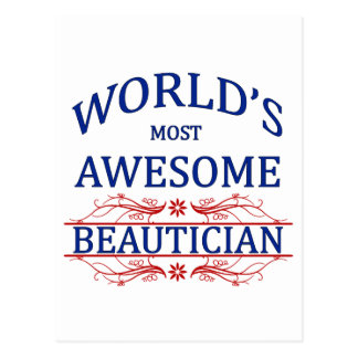 World's Most Awesome Beautician Postcard