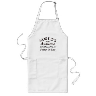World's Most Awesome Father-In-Law Long Apron