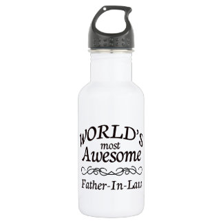 World's Most Awesome Father-In-Law 18oz Water Bottle