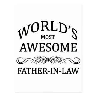 World's Most Awesome Father-In-Law Postcard