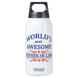 World's Most Awesome Father-In-Law 10 Oz Insulated SIGG Thermos Water Bottle
