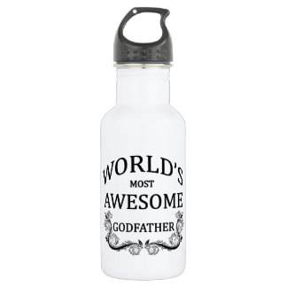 World's Most Awesome Godfather 532 Ml Water Bottle