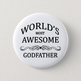 World's Most Awesome Godfather 6 Cm Round Badge