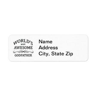 World's Most Awesome Godfather Return Address Label