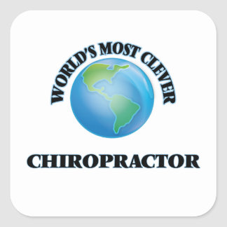 World's Most Clever Chiropractor Square Stickers