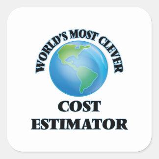 World's Most Clever Cost Estimator Square Stickers