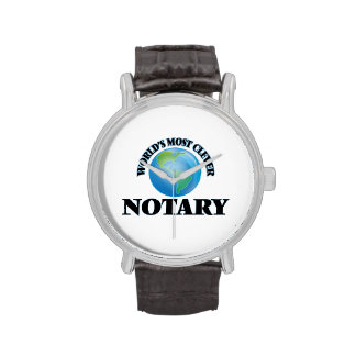 World's Most Clever Notary Wrist Watch