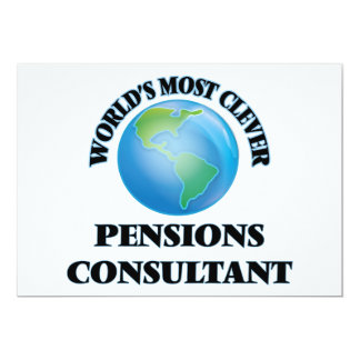 "World's Most Clever Pensions Consultant 5"" X 7"" Invitation Card"