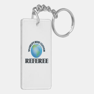 World's Most Clever Referee Rectangular Acrylic Key Chain