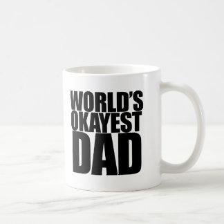World's Okayest Dad Basic White Mug