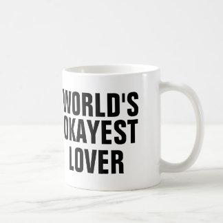 World's Okayest Lover Basic White Mug