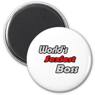 World's Sexiest Boss Refrigerator Magnet
