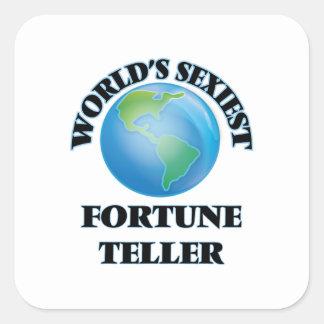 World's Sexiest Fortune Teller Square Sticker