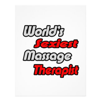 World's Sexiest Massage Therapist 21.5 Cm X 28 Cm Flyer