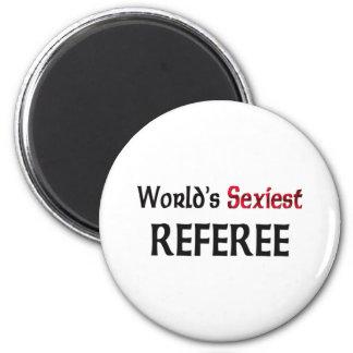 World's Sexiest Referee 6 Cm Round Magnet