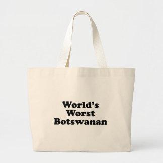 World's Worst Botswanan Large Tote Bag