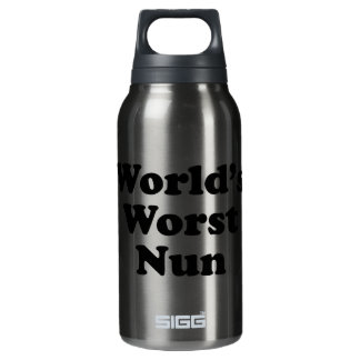 World's Worst Nun Insulated Water Bottle