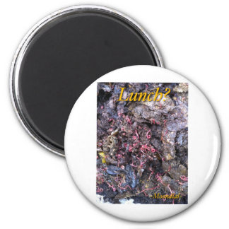 Worm Feast 6 Cm Round Magnet