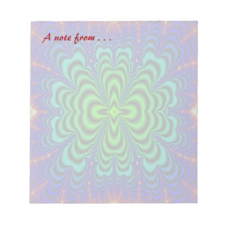 Wormhole Fractal Neon Green Space Tubes Notepad