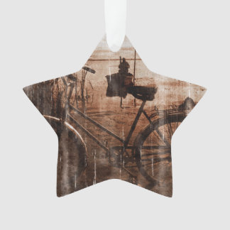 Worn Vintage Bicycle Photograph Ornament