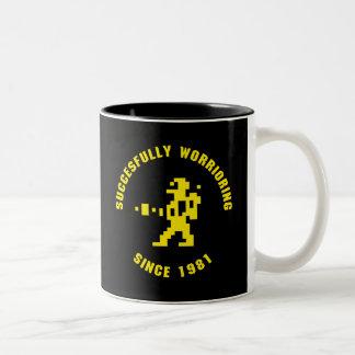 Worrior - black-yellow Two-Tone coffee mug