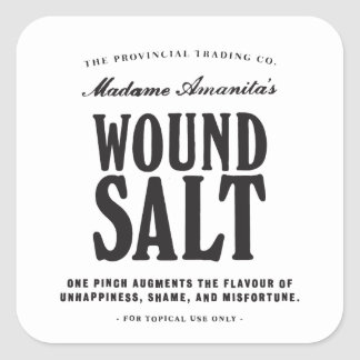 Wound Salt - apothecary label Square Sticker