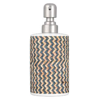 Woven Bamboo Soap Dispenser And Toothbrush Holder