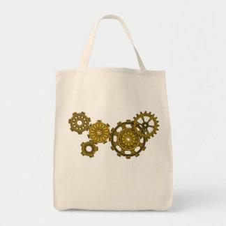Woven Clockwork Light Tote Bag
