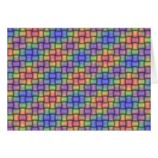 Woven Rainbow - Matched Card, Stamp & Envelope Set Greeting Card