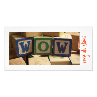WOW blocks! Congratulations Personalised Photo Card