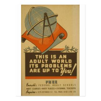 WPA - Adult World Postcard