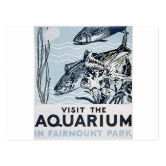 WPA - Aquarium Postcard