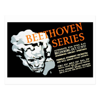 WPA - Beethoven Series Postcard