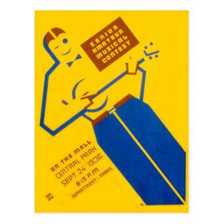 WPA Poster Postcard