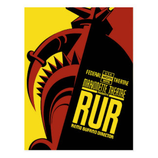 "WPA Posters - ""R.U.R."" Postcard"