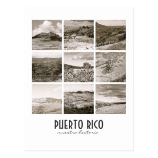 WPA Vintage Collage Puerto Rico Postcard