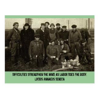 WPA Winter Work Crew Postcard