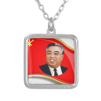 WPK Flag Silver Plated Necklace