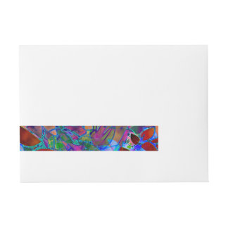 Wraparound Label Floral Abstract Stained Glass