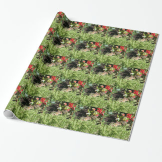wrapping paper with photo of cute chipmunk