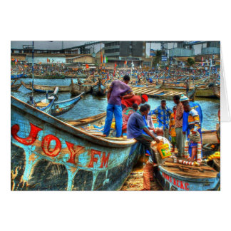 Wrapping the Day , Tema Harbor Ghana Card