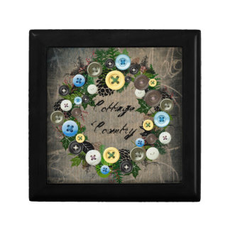 """Wreath """"Blooming Buttons"""" Flowers Floral Box"""