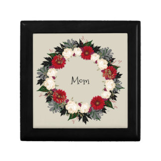 """Wreath """"Fleur"""" Flowers Floral Jewelry Boxes"""