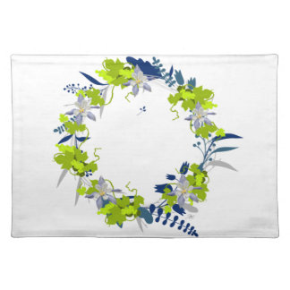 "Wreath ""Grape Love"" Flowers Floral Placemat"
